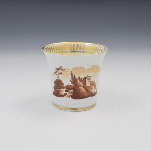 Chamberlain Worcester Baden Shape Coffee Cup c.1815 (1 of 7)
