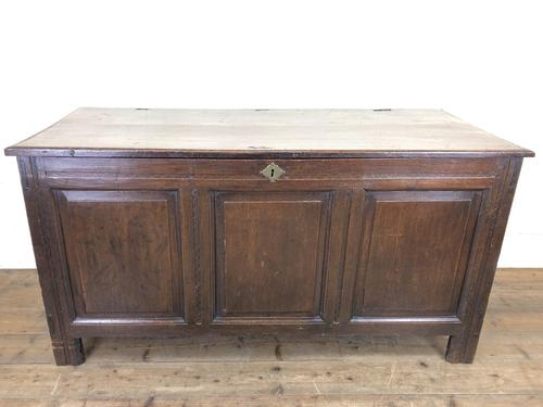 Antique 18th Century Oak Coffer with Panel Front (1 of 14)