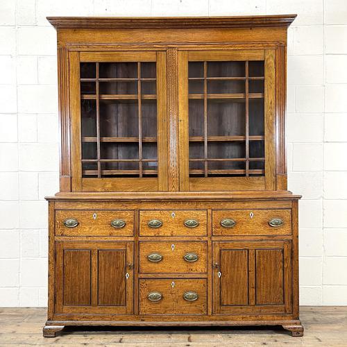 Antique 19th Century Glazed Oak Dresser (1 of 10)