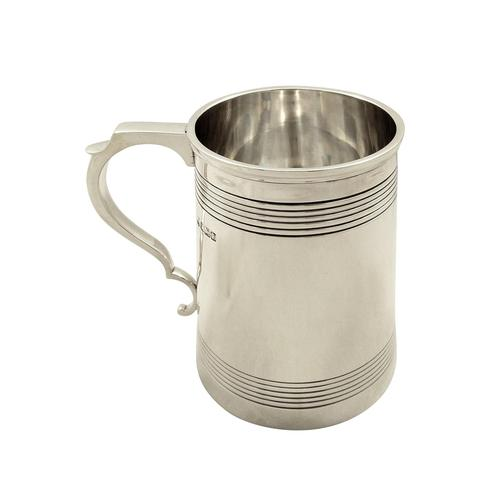 Antique Sterling Silver Pint Tankard / Mug 1917 (1 of 8)