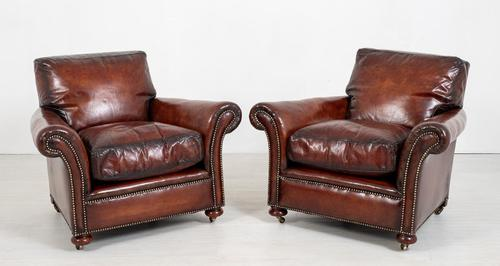 A good pair of victorian leather club chairs (1 of 8)