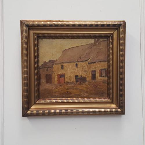 Antique Belgian Oil Painting c.1890 (1 of 4)