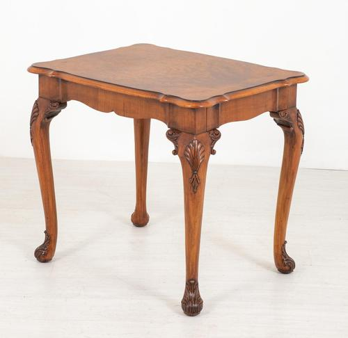 Walnut Queen Anne Style Occasional Table (1 of 8)
