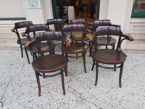 Set of  Eight Antique Bentwood Armchairs (1 of 4)