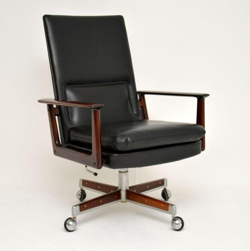 Danish Rosewood & Leather Desk Chair by Arne Vodder (1 of 13)