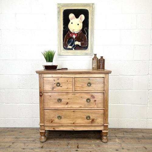 Small Victorian Pine Chest of Drawers (1 of 10)