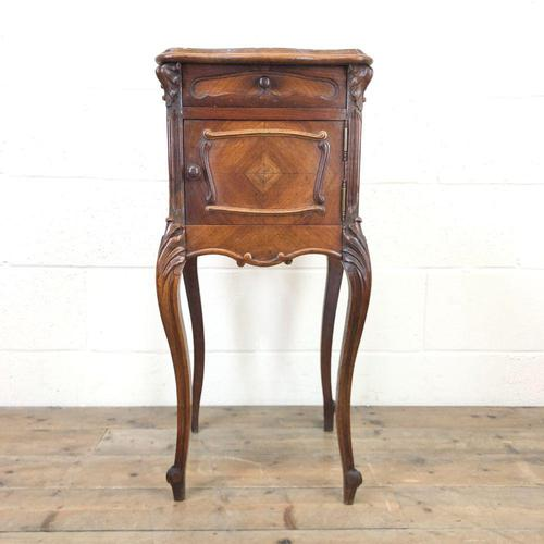 Antique French Marble Top Side Cupboard (1 of 9)