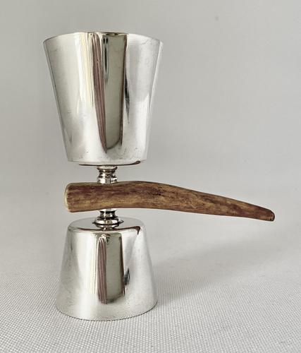 Art Deco Silver Plated Double Ended Spirit Measure c.1930 (1 of 5)