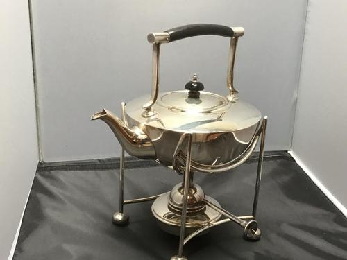 Solid Silver Spirit Kettle Dresser Style (1 of 13)