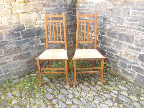 Pair of Arts & Crafts Scottish Chairs by E.A.Taylor (1 of 10)