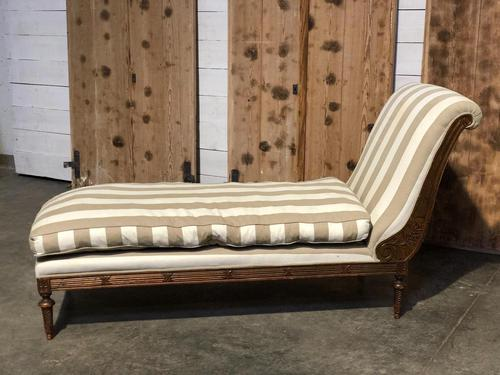 Antique French Chaise Lounge (1 of 11)