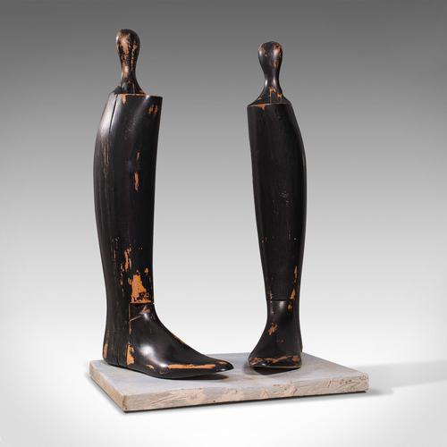 Antique Decorative Boot Tree, English, Beech, Ornamental, Shoe Last, Edwardian (1 of 12)