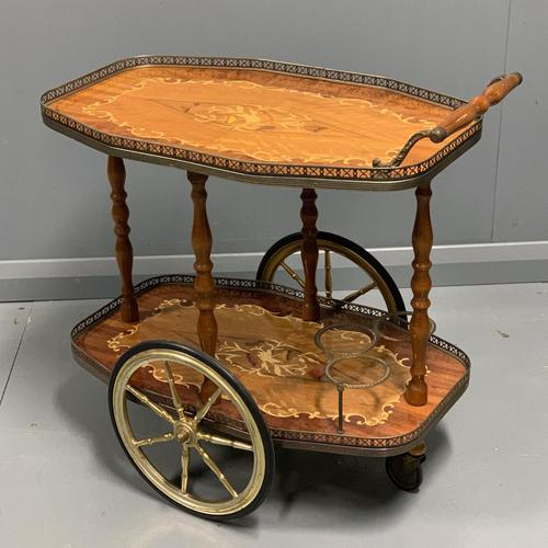 French Marquetry Drinks Trolley (1 of 4)