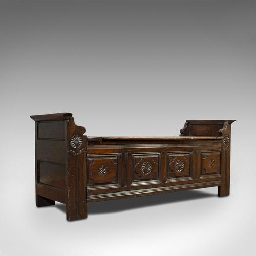 Antique Coffer, French, Oak, Window Seat, Storage Bench c.1700 (1 of 12)