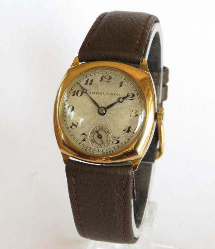 Mid-size 9ct Gold Grosvenor Wrist Watch (1 of 6)