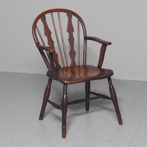 Victorian Elm & Mahogany Country Chair (1 of 8)