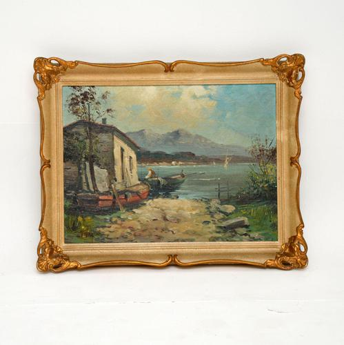 Antique Italian Landscape Oil Painting by Tardini (1 of 10)