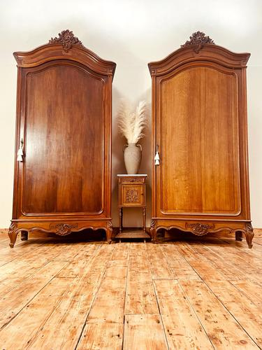 Pair of French Armoires / Two French Wardrobes (1 of 10)
