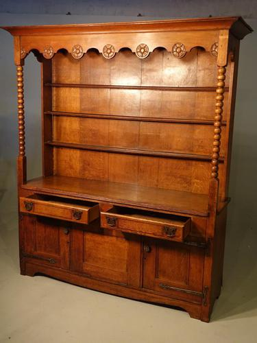 Attractive Early 20th Century Continental Oak Dresser & Rack (1 of 6)