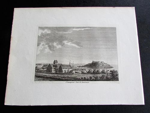 1775 Engraving Of A View Of The City Of Algiers (1 of 2)