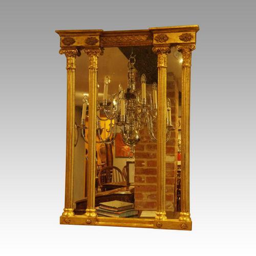 Regency English gilt pier mirror (1 of 6)