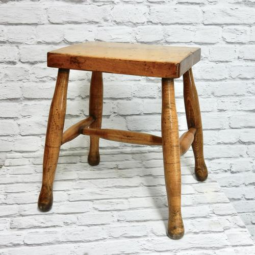 Antique Country Stool - Ash & Sycamore (1 of 5)