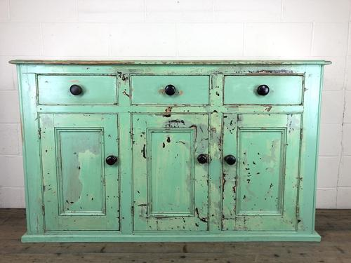 Victorian Antique Pine Painted Dresser Base Sideboard (1 of 14)