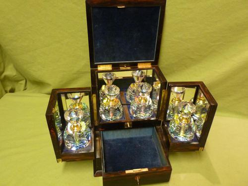 Rare Fine Quality Coromandel Jewellery – Perfumery Box c.1872 (1 of 14)