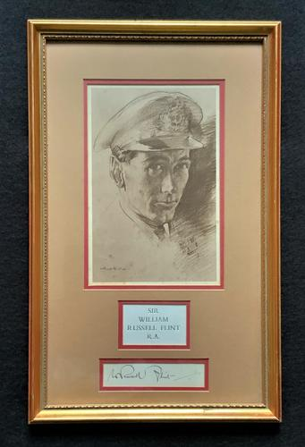 Sir William Russell Flint - Signed - Military Officer Portrait - Sepia Print (1 of 9)