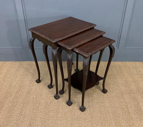 Nest of 3 Mahogany Tables (1 of 12)