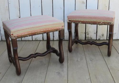 Pair of Os De Mouton Foot Stools (1 of 7)