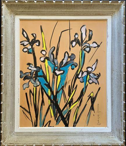 Large Beautiful 1958 Vintage Impressionist Floral Still Life Oil Painting (1 of 12)