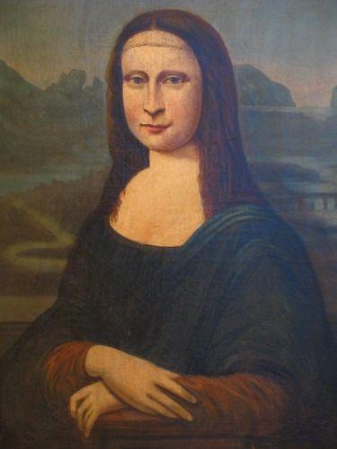 Mona Lisa Old Master 18th Century Oil Portrait Painting on Canvas after Leonardo Da Vinci (1 of 9)