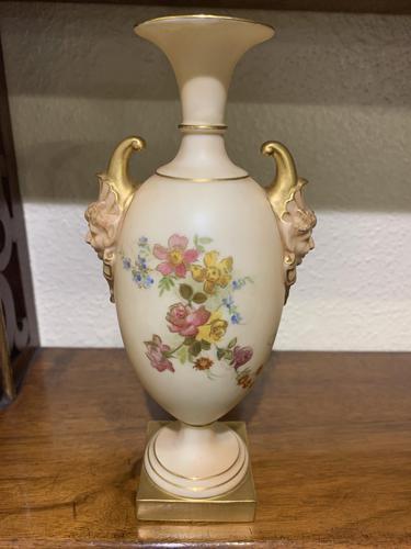 Royal Worcester – Pretty Blush Ivory Porcelain Vase (1 of 3)