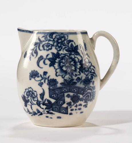 18th Century Liverpool Blue & White Printed Jug (1 of 5)