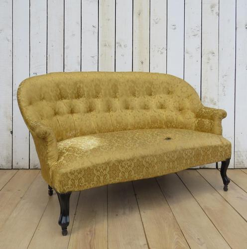 Antique French Button Back Sofa for Re-upholstery (1 of 8)