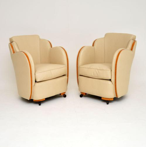 Pair of Original Art Deco Cloud Back Armchairs by Epstein (1 of 11)