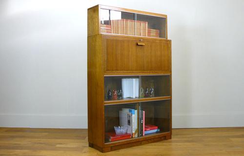 1930s Golden Oak Minty of Oxford Bureau Bookcase (1 of 11)