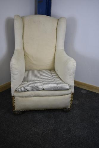 Beautiful Wingback Fireside Chair 19th century (1 of 12)