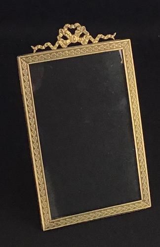 Victorian Brass Oblong Easel Photo Frane (1 of 4)