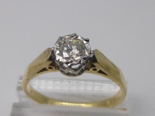 18ct Gold, Diamond Solitaire Ring (1 of 7)