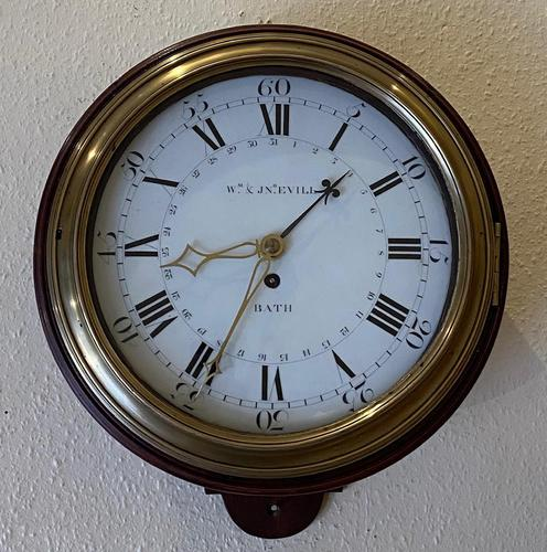 Rare Wall Clock with Enamel Dial (1 of 6)