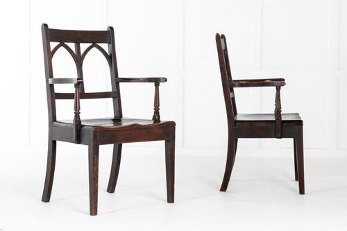 Pair of Early 19th Century English Oak Chairs (1 of 5)
