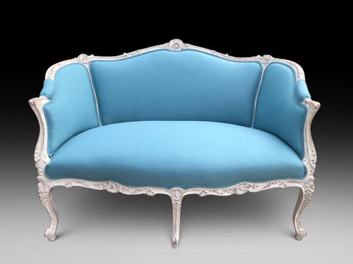 Sand Blasted/distressed Painted French Sofa (1 of 4)