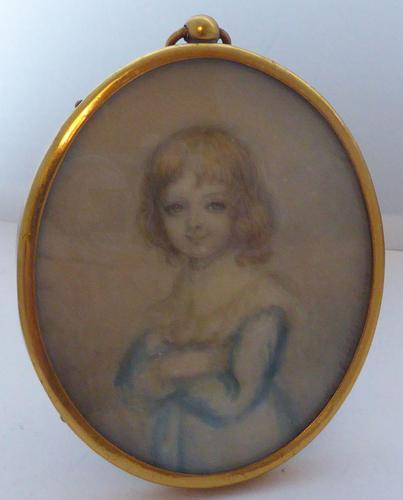 Watercolour Portrait Miniature Georgiana Duke of Devonshire 's Daughter c.1790 (1 of 13)