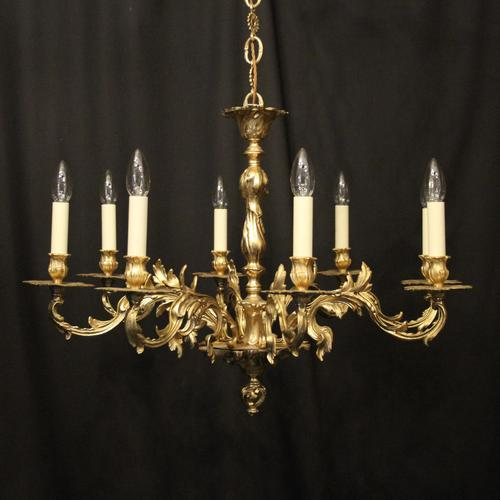 French Gilded 8 Light Chandelier (1 of 10)