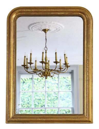 Antique Large Quality 19th Century French Gilt Wall Mirror Overmantle (1 of 6)
