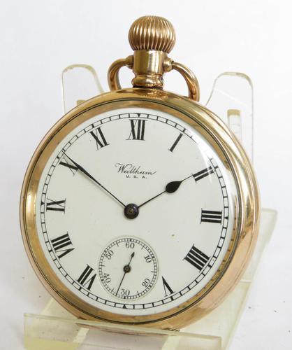 Antique Waltham Traveler Pocket Watch, 1917 (1 of 5)