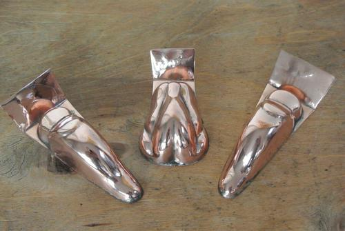3 Original Late 19th Century, Small Copper Entrée Moulds Maker S.F London (1 of 6)