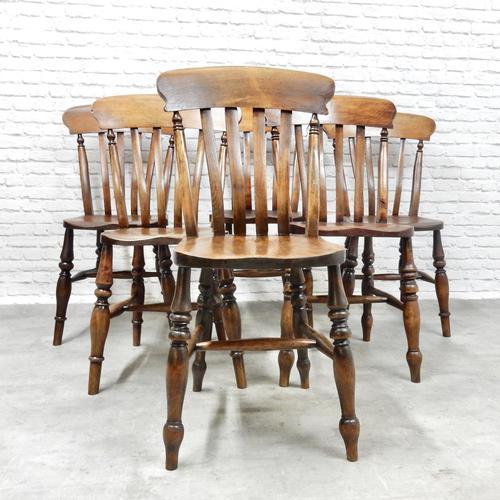 6x Windsor Slatback Kitchen Chairs (1 of 7)